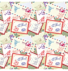 post stamp xmas seamless 380 vector image