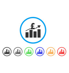 pound business chart rounded icon vector image