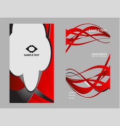 professional corporate business card design set vector image