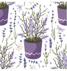 Provence seamless lavender pattern vector