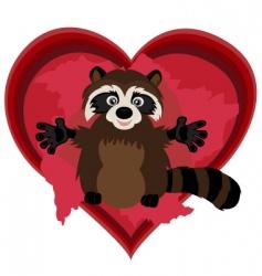 raccoonlove vector image