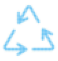 recycle triangle halftone icon vector image