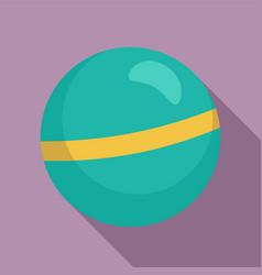 rhythmic gymnastics ball icon flat style vector image