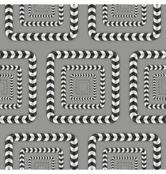 Rotating Squares Optical Seamless Pattern vector image