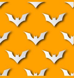 seamless halloween bat paper art pattern vector image