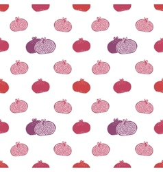 seamless pomegranates pattern vector image