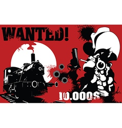sheriff wanted poster vector image