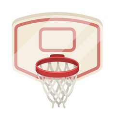 shield with basketbasketball single icon in vector image