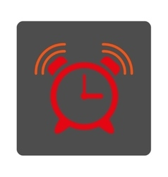 Sirene Clock Ring Rounded Square Button vector