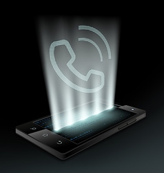 Smartphone with icon the call vector image