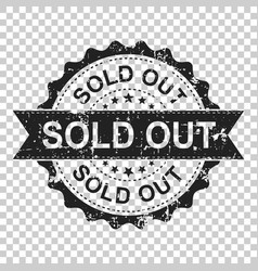 Sold out scratch grunge rubber stamp on isolated vector