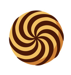 Spiral biscuit icon flat style vector