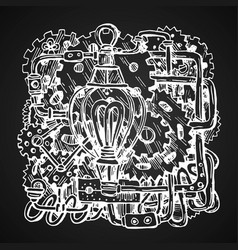 steampunk style drawing vector image