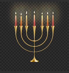 stock hanukkah menorah with vector image