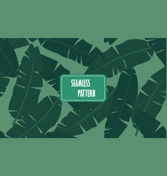 tropical palm leaves jungle leaf seamless vector image