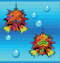 Ugly fishes vector