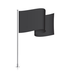 waving black flag template vector image