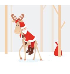 weary Santa Claus vector image