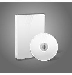 White realistic isolated DVD CD Blue-Ray case with vector