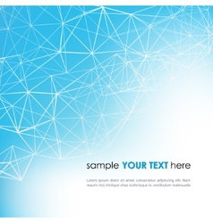 Abstract technology background in blue color vector image vector image