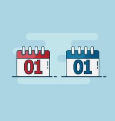 calendar flat design vector image