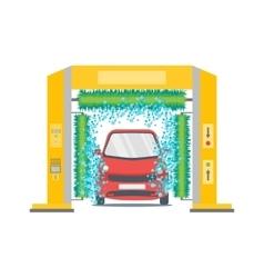 Car Wash Service Station vector image