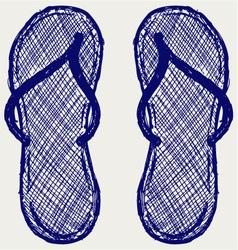 Flip flop vector image vector image
