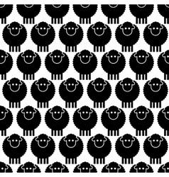 Seamless pattern black sheep vector image