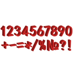 3D number figure for clearance sales vector image vector image