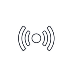 access point wi-fi signal antenna thin line icon vector image