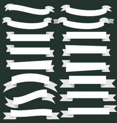 Banner ribbon scroll collection vector image