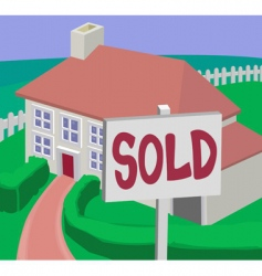 sold house vector image vector image