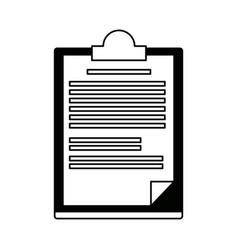 Clipboard paper report document business vector