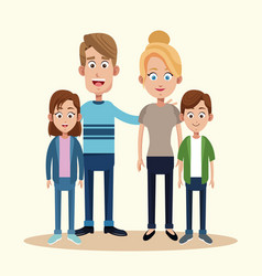 parents with son daughter together vector image vector image