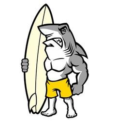 shark surfer vector image vector image