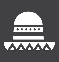 sombrero mexican hat solid icon travel tourism vector image