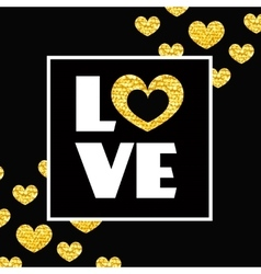 Happy valentines day card Word LOVE and heart in vector image vector image