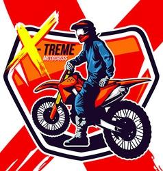 Motor Cross vector image