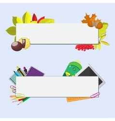 set of two banners with seasonal background vector image