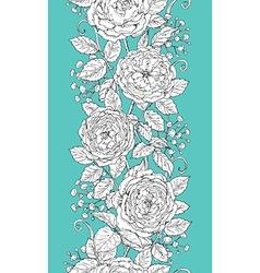 tea rose pattern vector image vector image