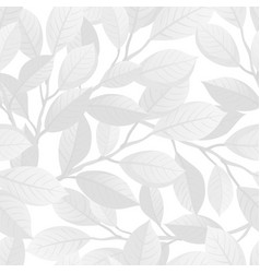 white floral seamless pattern vector image vector image