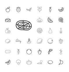 33 vegetarian icons vector