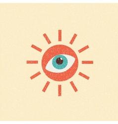 abstract sun retro poster vector image