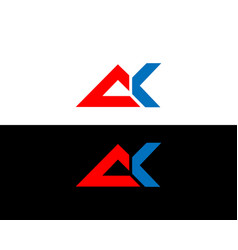 Ak letter logo and icon element design vector