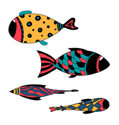 Aquarium fish silhouette vector