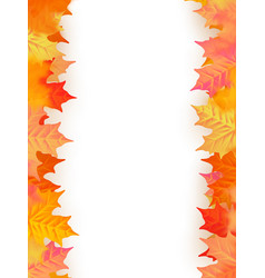 back to school template autumn background with vector image