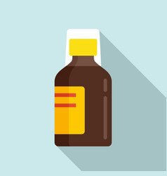 Bacough syrup icon flat style vector