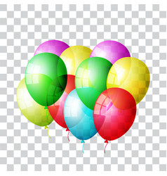 balloon set colored vector image