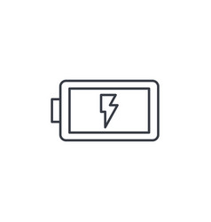 battery charge full thin line icon linear vector image