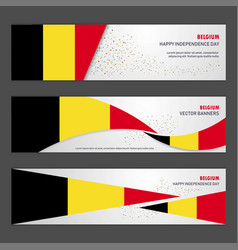 Belgium independence day abstract background vector